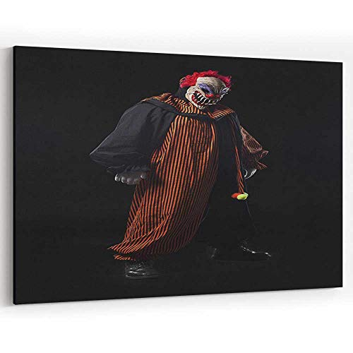 Creepy Adult Clown Halloween Costume Portrait on Black