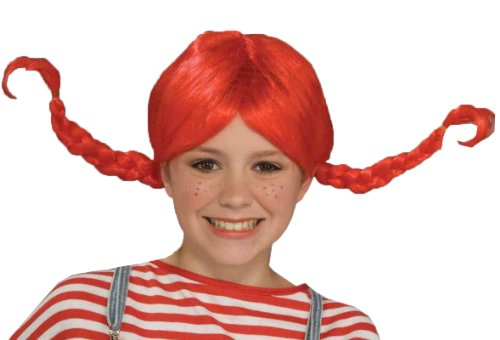 (Forum Pippi Longstocking Wig, Red, One Size)