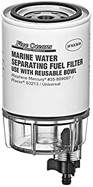 Fuel Water Separator Filters and Kits w/See-Thru Bowl (Universal, Mercury, Yamaha) - Five Oceans