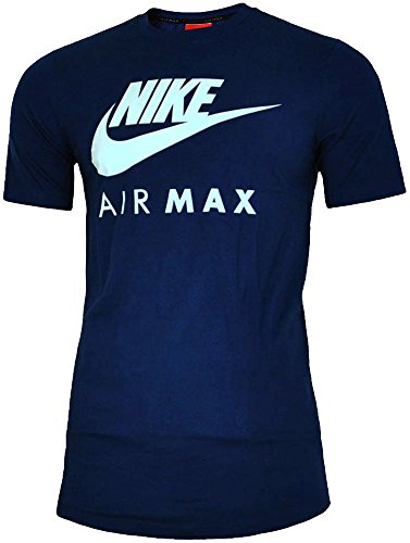 blanc À Nike Rond Homme T Courtes Navy Manches shirt Logo Col v4Evqr6wx