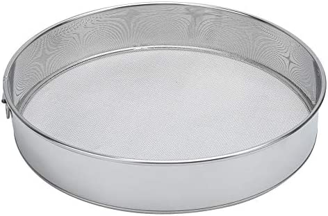 wpOP59NE Flour Sifter Stainless Steel Mesh Sifting Sieve Strainer ...