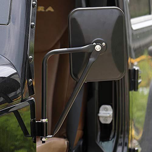 Seven Sparta Door Off Mirrors for Jeep JK, JKU, JL,JLU 07-18, Including Rubicon, Sahara, Sport, Shake-Proof Side View Wrangler Quick Release Mirrors Black, 2 Pack (07 Frame No Cut Black)