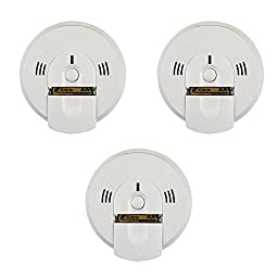 Kidde KN-COSM-BA Battery-Operated Combination Smoke/Carbon Monoxide Alarm with Voice Warning (3 Pack)
