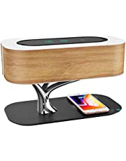 Ampulla Bedside Lamp with Bluetooth Speaker and Wireless Charger, Sleep Mode Stepless Dimming