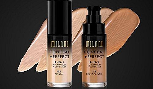MILANI Conceal + Perfect 2-In-1 Foundation + Concealer – Creamy Vanilla