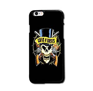 Retro Guns Rose Skull Cool Design Case Cover For iPhone 5 5S Personality Design