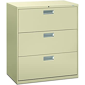 HON 3 Drawer Filing Cabinet   600 Series Lateral Legal Or Letter File  Cabinet,
