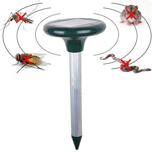 GADEMATA | Repellents | Solar Powered Ultrasonic Mice Repeller Pest Mosquito Cockroach Repellent Mole Vole Mouse Snake Killer Trap Anti Mosquito Control (Ultrason Pest Repeller)