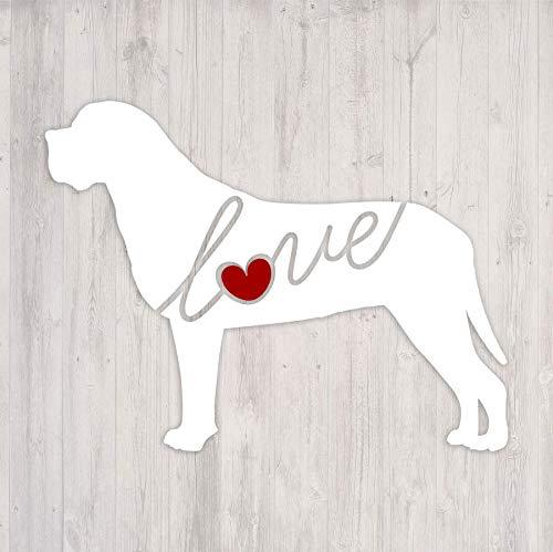 - English Mastiff Love - Car Window Vinyl Decal Sticker (Script Font)