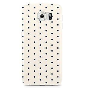 Samsung Galaxy S6 Edge Case Blue White Small Polka Dots-Hard Plastic Tough Wrap Around Phone Cover