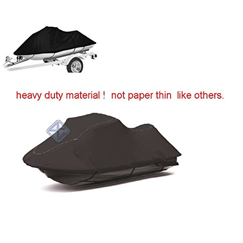 P4 Heavy Duty Black Jetski Cover fits most 3 seater seat models size 127''-138'' fits Seadoo GTR Yamaha Kawasaki Others