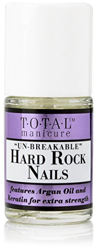 Total Manicure Un-Breakable Hard Rock Nails. Nail strengthening oil with Keratin and Argan Oil. 0.48 fl oz.