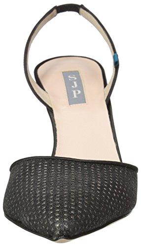 SJP by Sarah Jessica Parker Bliss 90, Scarpe con Cinturino Alla Caviglia Donna Nero (Black Pixie Fine Perf)