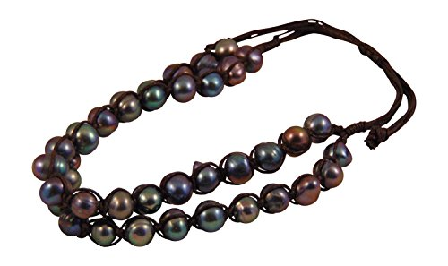 Double Strand Adjustable Simulated Pearl Bracelet (Gray)