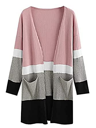 Milumia Women's Long Sleeve Open Fron Long Trech Cardigan Coat Outerwear - Multicoloured - X-Small
