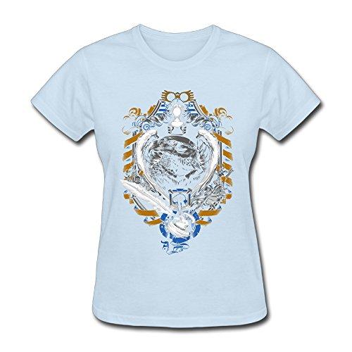 Robert Pesce Womens R-Crest T Shirt SkyBlue