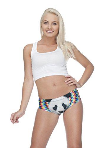 Las niñas de la mujer ropa interior calzoncillos Slip Hipster bragas Teenage Fashion braga tamaño de los pantalones 810 ACID PANDA