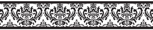 Black and White Isabella Baby and Kids Wall Border by Sweet Jojo Designs, Baby & Kids Zone