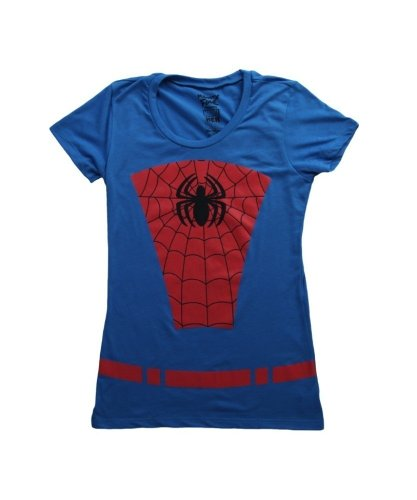 Womens Spider Man Belted Suit T-Shirt 2X
