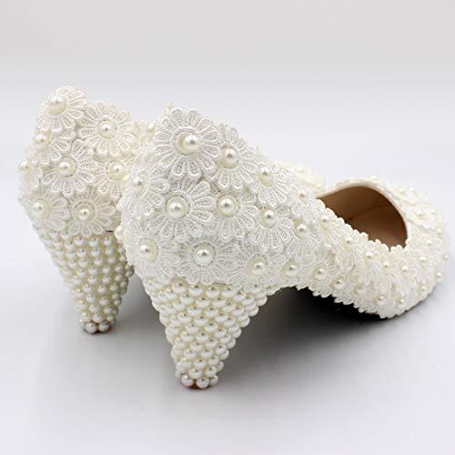 Talon Avec Seraph Blanc Blanc Dentelle Bh564 Décolleté Demoiselle Et Mariée En D'honneur Chaussures Moyen De rSqYnZxq0