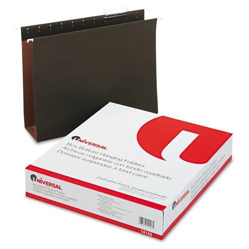 Three Inch Box Bottom Pressboard Hanging Folder, Letter, Standard Green, 25/Box (Inch Bottom Box Three)