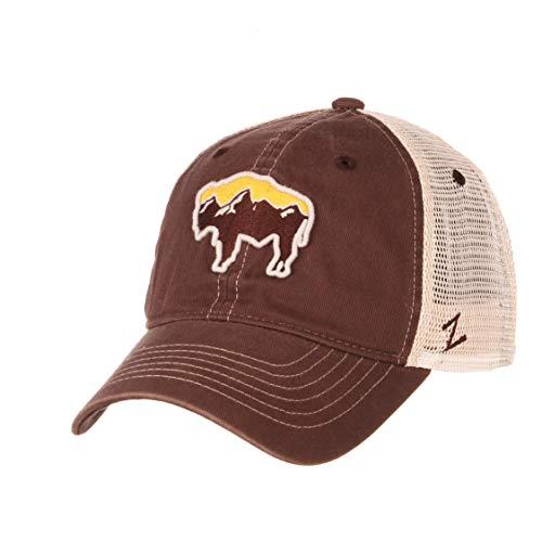 (Buffalo Adjustable Trucker Hat Brown)