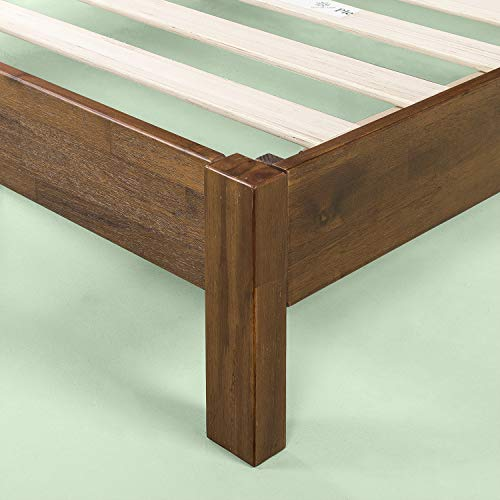 Zinus 12 Inch Acacia Wood Platform Bed with Headboard / No Boxspring Needed / Wood slat, King