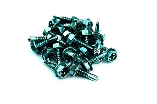 (Box of 100 pc) NEW Green Grounding Screws 3/8