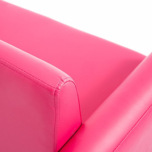 Qaba 33 Kids PU Leather Storage Sofa - Pink by Qaba (Image #6)