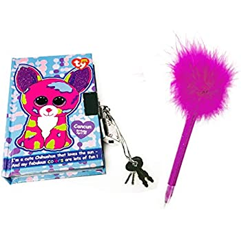 8b9b0dee20c KidPlay Products TY Beanie Boos Cancun Chihuahua Pocket Mini Diary with  Fluffy Pen