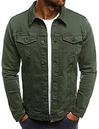 Tyjtyrjty Men's Slim Casual Jackets Denim Jacket