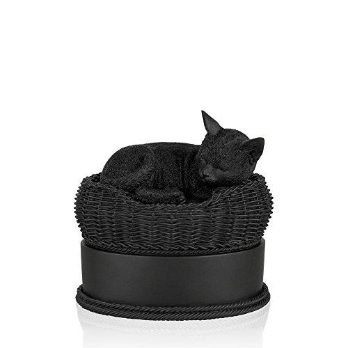 Perfect Memorials Cat in Basket Urns by Perfect Memorials