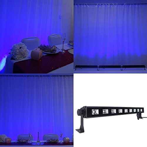 (Efavormart 27 Watt Blue Super Bright 9 LED Wall Washer Backdrop Lighting Spotlight Fixt for Wedding Birthday Party Event)