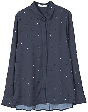 Mango Women's Polka-Dot Print Shirt