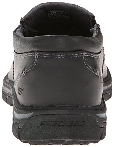 Skechers Men's Segment The Search Slip On Loafer Black Leather best online k9tfT78M8