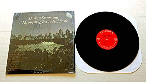 Barbra Streisand A Happening In Central Park 2bb22b - Columbia Records 1968 - Used Vinyl Record Album - 1968 Pressing In Shrink Wrap - 360 Sound Labels - Cry Me A River - People - I Can See It
