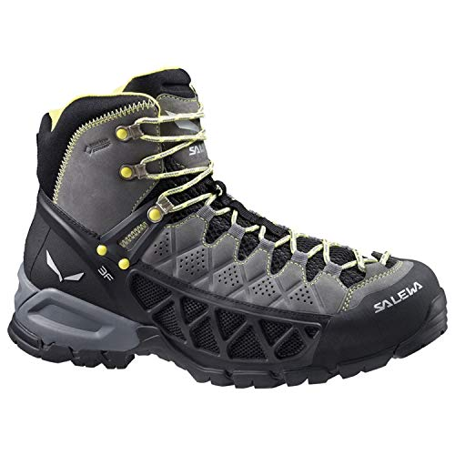 (Salewa Men's Alp Flow Mid GTX Alpine Trekking Boots, Smoke/Yellow, 8)