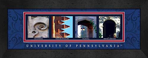 - Prints Charming Letter Art Framed Print, U of Pennsylvania-Penn, Bold Color Border