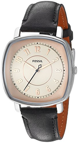 Fossil Women's ES3998 Visionist Black Leather Watch