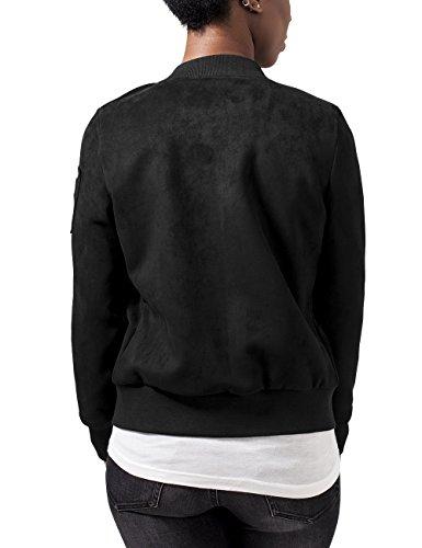Jacket Nero Classics Urban black Bomber 7 Donna Suede Imitation Giacca Ladies 6OWXqgx1