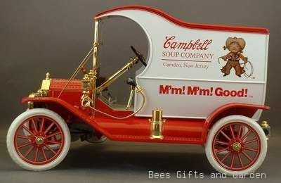 Campbell Models Scale (Limited Edition Campbell Soup Company, 1912 Ford Model T Delivery Truck, 1/16 Scale Replica (1 Unit) by Gearbox Toys and Collectibles)