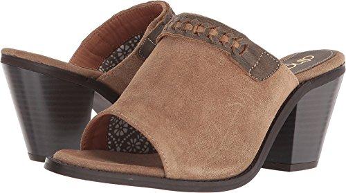 Dingo Western Shoes Womens Talia Leather Mule Clog 9 M Sand DI9304