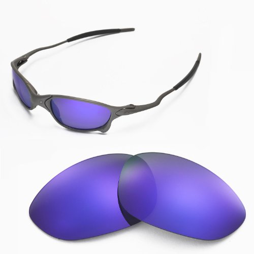 Walleva Replacement Lenses for Oakley X Metal XX Sunglasses - Multiple Options Available (Purple Coated - Polarized)