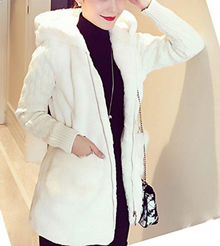 Suéter Más Elegantes Hoodie De Blanco De Mujer Larga Cárdigans Grandes Pelo Capucha Abrigos Punto Casual Chicas Abiertas Invierno Marca Manga Grueso Tallas Jerseys Con Chaquetas Cg6wqf