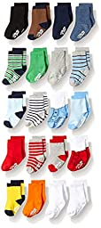 Little Me Boys\' 20Pk Anklet Socks, Assorted, 0-12 Months/12-24 Months