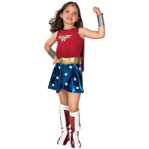Halloween Costumes For 4 Girls (Super DC Heroes Wonder Woman Child's)