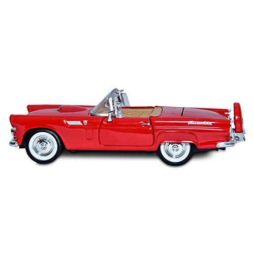 Ford Thunderbird Model - Motormax 1/24 Scale 1956 Ford Thunderbird Convertible Diecast Model Vehicle Yellow