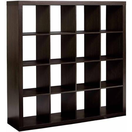 Versatile Better Homes and Gardens 16-Cube Storage Organizer, Espresso