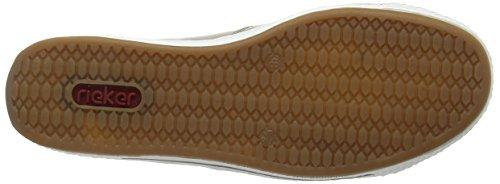 Rieker L3051-60, Mocasines para Mujer Beige (60)