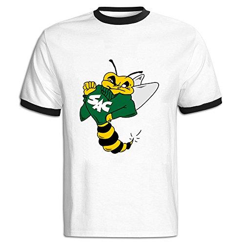 Men's Color Block Tshirts Cute Sacramento State Cartoon Bee M Black